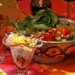 Moesli and some fresh vegetable salad (part of breakfast)