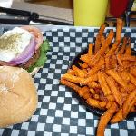 milos shmilos & sweet potato fries