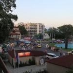 utsikt fra hotelrommet