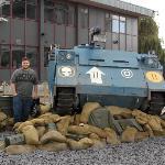 Rhino tank with one very happy husband