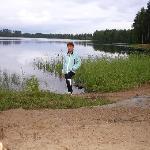 Озеро рядом с отелем