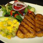 Blackened Salmon with Mango Salsa Salad... voted best by our patrons