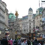 Graben area right outside the hotel