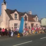 Olympic torch in Cleobury