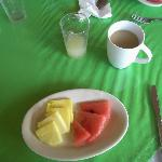 Fruits at breakfast