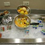 fresh fruit at breakfast bar