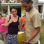 Fresh coconut water! Mmm!