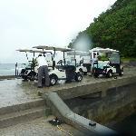 Golf cart ride