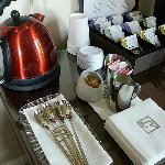 Tea Setup in Fireside Salon