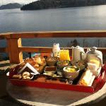 El desayuno en la Suite Lago