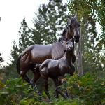 gorgeous statuary at Triple Creek