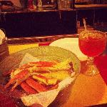 Crab and awesome drink