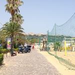 campi di beach volley sulla spiaggia