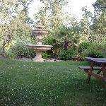 Giardino interno con fontana