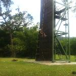 Abseiling tower! 18 metres the same as a 6 floor building!