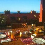 breakfast terrasse with sea views