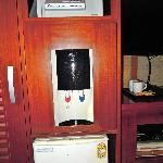 Water dispenser, safe, and fridge