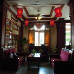 大廳的燈籠,頗有中國風。