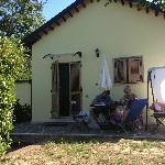 Outside our room at Terra di Mezzo
