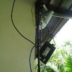 wires hanging over balcony :(