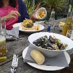 mussels and burger, delicious!