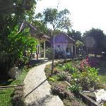 Huisjes rondom de tuinen