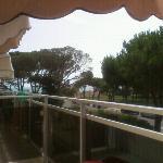 vista dal balcone primo piano