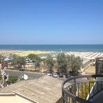 vista spiaggia dalla mia camera