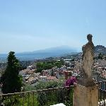 View from the balcony of Mt Etna