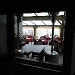 vue de la chambre.... sur la salle à manger !!