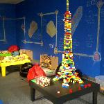 The Lindsay Building Centre houses thousands of Lego bricks for creative free play.