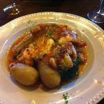 loup de mer au crevette avec son beurre de tomate