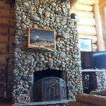 One of the beautiful fireplaces