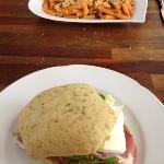 Pasta bowl and panini