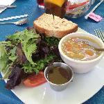 Soup, salad and half sandwich