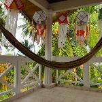 On the private verandah