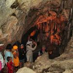 Group walking in cavern