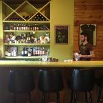 the bar at The Green Owl Cafe