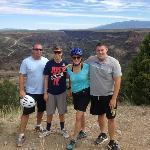 Mountain Biking along the east rim
