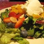 Summer Berry Salad with local goat cheese
