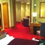 suite 305 bedroom looking into lounge.