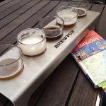Beer flight from Brewpub