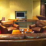 another view if suite 305's lounge area.