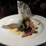Ginger Sweet Wasabi Ahi With Apple BeanSprout Salad