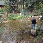 Enjoying fisihing in the Fall River