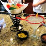 Great margaritas and chips