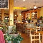Locally roasted organic espresso and organic teas. Wine bar featuring local vineyards.