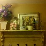 shelf in the washroom