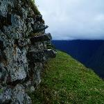 Intipata: steps on the terrace.