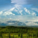 Picture from my tent of Mt McKinley